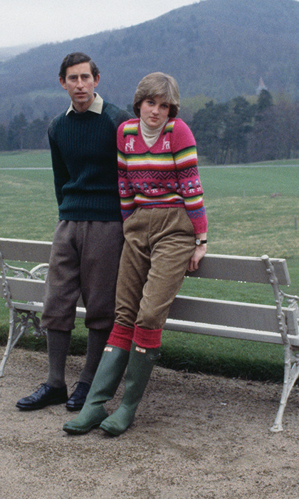 The late Diana, Princess of Wales single-handedly made wellington boots cool. Diana teamed her bottle green Hunter wellies with corduroy trousers and a vibrant jumper for a walk with then husband Prince Charles in 1981. The iconic boot brand has been a favourite of the royal family for many years, and actually received a Royal Warrant - meaning the brand are allowed to bear the coat of arms.