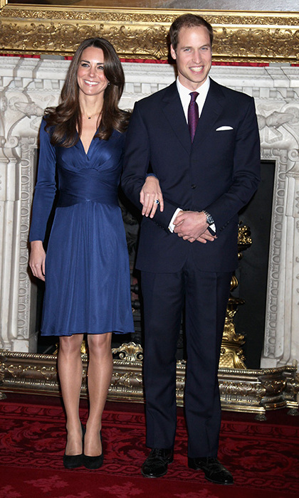 At the photocall for Prince William and Duchess Kate's engagement in 2010, the mother to Prince George and Princess Charlotte donned a blue wrap dress by Issa London, which cleverly matched her sapphire engagement ring. The dress sold out in 43 countries and is still adored to this very day.