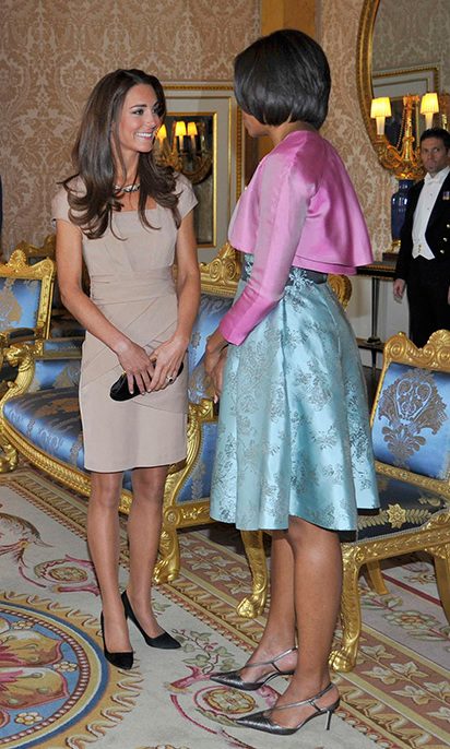 After Duchess Kate stepped out in a nude Reiss dress to meet the Obamas' in 2011, the dress became a huge hit and predictably sold out in minutes. Kate has constantly worn the mid-range high-street brand ever since, which shows her love for not only designer pieces, but also more affordable gems.