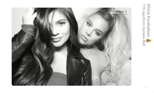 Kylie Jenner with sister Khloé Kardashian - who is also pregnant