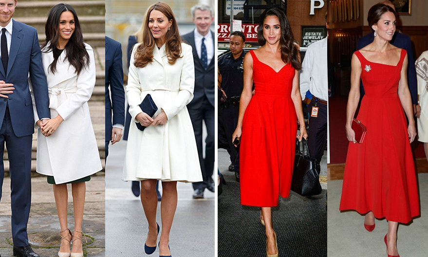 b4d95784 Meghan Markle and Kate Middleton: A look at their similar style | Hello!  Canada - HELLO! Canada