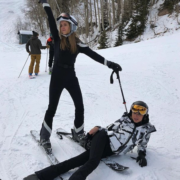 Princess Olympia of Greece struck a pose (reclined in the snow!) with a pal as she bid farewell to 2017 on the slopes in Aspen. The 21-year-old royal posted the picture to her Instagram page with the caption, 'Ciao to the ciao.'