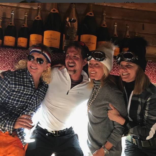 "Princess Olympia's parents Crown Prince Pavlos and Crown Princess Marie-Chantal, center, who were also on the family break in Aspen, were in a celebratory mood, with the Princess sharing this fun pic, with former Ambassador Colleen Bell, right, on her Instagram. The royal captioned the photo: ""Fun times with the Bells ❤️ @ambcolleenbell.""