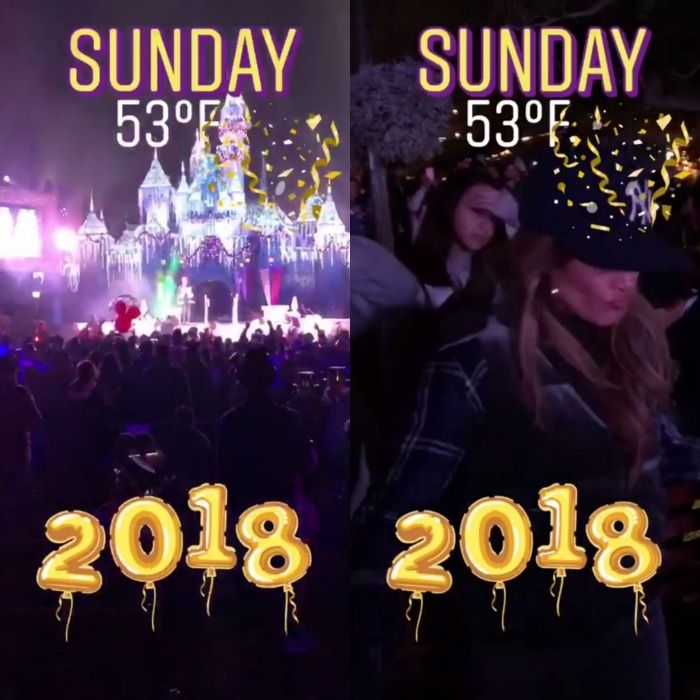 Jennifer Lopez and Alex Rodriguez greeted 2018 from the most magical place on earth! The couple, who ruled 2017 with their romance, expired the year in Disneyland. A-Rod took to his Instagram stories to document the whimsical evening, first showing a spectaular fireworks dislpay streak the sky over a lit up Cinderella's castle. The videos also confirmed that his two daughters Natasha and Ella were in attendance. 