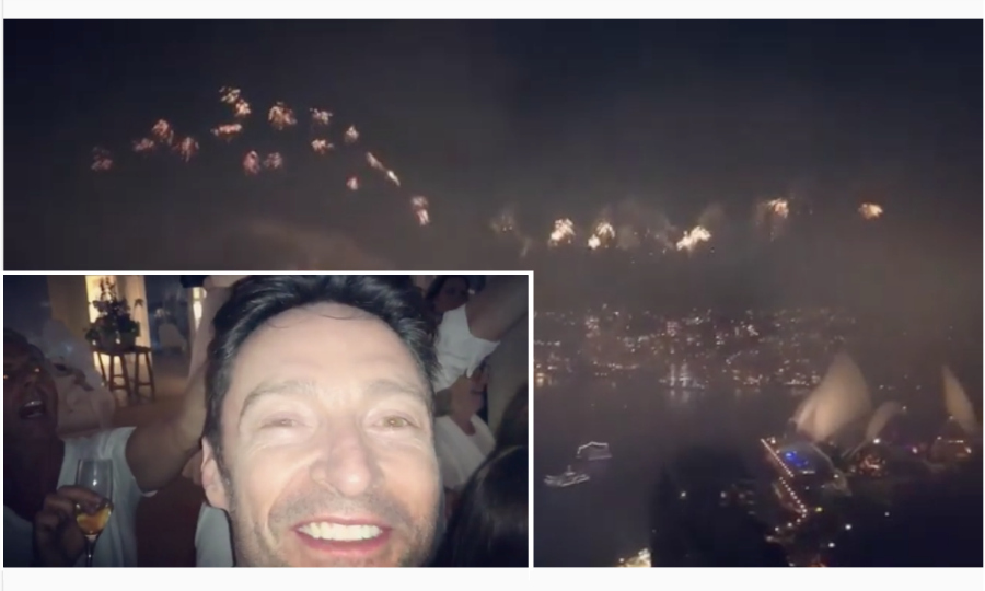 Hugh Jackman was among the first in the world to officially greet 2018, ringing in the new year in his homeland of Australia! <i>The Greatest Showman</i> star posted a video showing his spectular celebration down under as the clock changed.