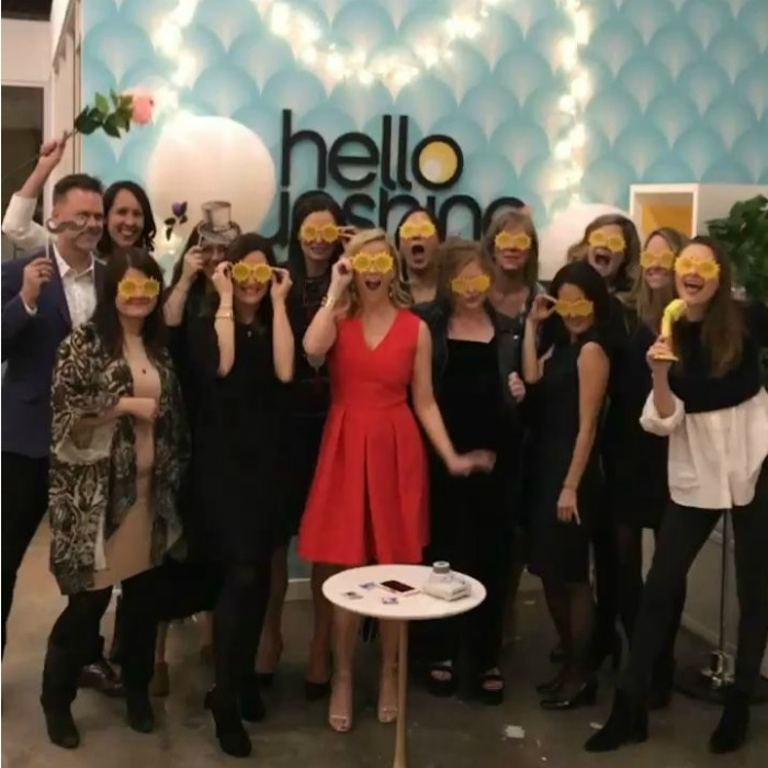 "2017 has been another busy year for Reese Witherspoon. The star celebrated with her Hello Sunshine gang, a media company she founded. ""Happy Holidays from my whole @HelloSunshine crew! We look forward to bringing you some good news and sunshine in 2018!"" she wrote alongside a fun boomerang.