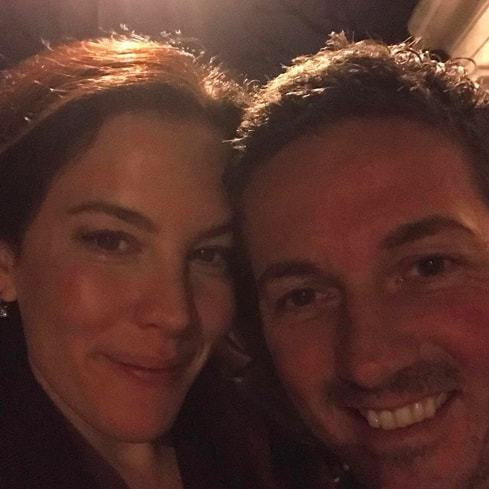 Liv Tyler looked radiant and happy ringing in the New Year with her husband David Gardner.