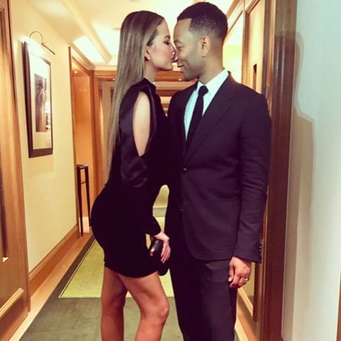 "Chrissy Teigen and her husband John Legend posed for an adorable New Year photo together. John shared the snap on his Instagram with the heartwarming caption, ""2017's greatest hits. Featuring my beautiful wife and daughter, of course. I love them so much and I look forward to us growing and flourishing together in 2018. Happy New Year to everyone!!""