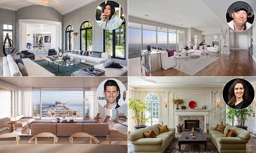 The top celebrity living rooms, from Angelina Jolie to ...