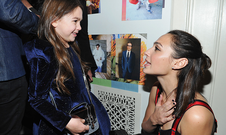 At W Magazine's pre-show party, <i>Wonderwoman</i> actress Gal Gadot shared an adorable first meeting with child star Brooklynn Prince, who recently starred in the critically-acclaimed film <i>The Florida Project</i>. Gal will be one of the presenters at the Golden Globes on Sunday!