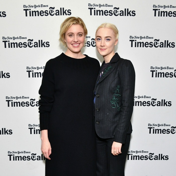 "Lady birds! Greta Gerwig and Saoirse Ronan stepped out for their ""TimesTalks"" event at Merkin Concert Hall at Kaufman Music Center in New York City on January 4. The writer and her leading lady looked thrilled to be discussing their buzzed-about new film. 