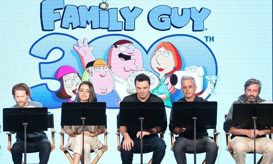 <i>Family Guy</i>'s Seth Green and Mila Kunis, creator/executive producer Seth MacFarlane and more performed a live reading of their show during the FOX portion of the 2018 Winter Television Critics Association Press Tour at The Langham Huntington, Pasadena on January 4 in Pasadena, California. 