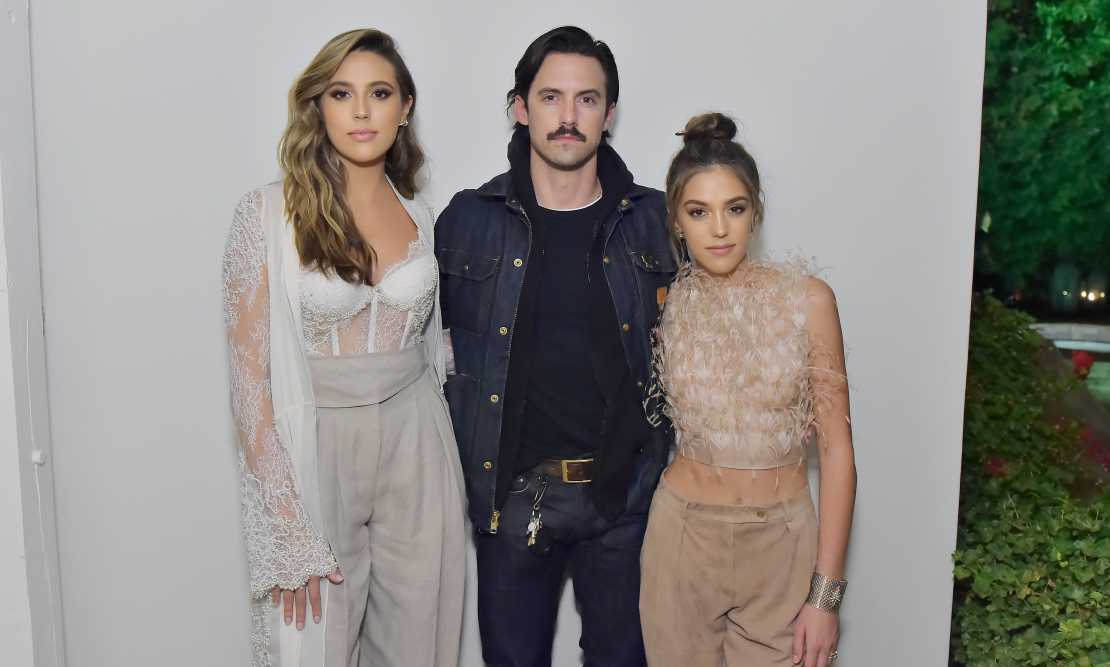Three's a crowd, and we love this crowd! Sophia Stallone, Milo Ventimiglia and Sistine Stallone showed off their amazing outfit choices at the Maserati and Esquire pre-show party.