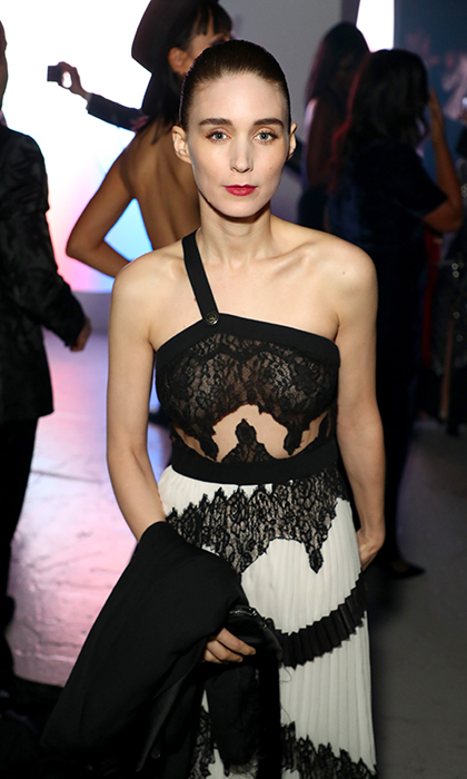 Rooney Mara was on hand at Barker Hangar, where Moët & Chandon toasted The Art of Elysium's 11th Annual HEAVEN gala, courtesy of John Legend's visionary eye. The A Ghost Story star slipped into a monochromatic number that was anything but boring!