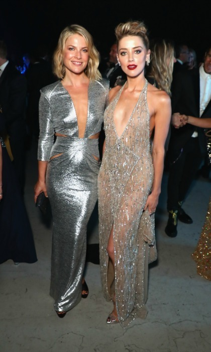 Shimmering beauties! Ali Larter and Amber Heard were among the various celebs to attend John's Moet Hennessy gala. The pair sparkled in their respective low-cut ensembles, Ali's a metallic dress and Amber's a sheer one. Other stars in attendance included: Nikki Reed, Vanessa Hudgens, Victoria Justice, Abigail Spencer, Emmanuelle Chriqui, Amy Smart, Camila Mendes, Madelaine Petsch, Cole Sprouse and Lili Reinhart.