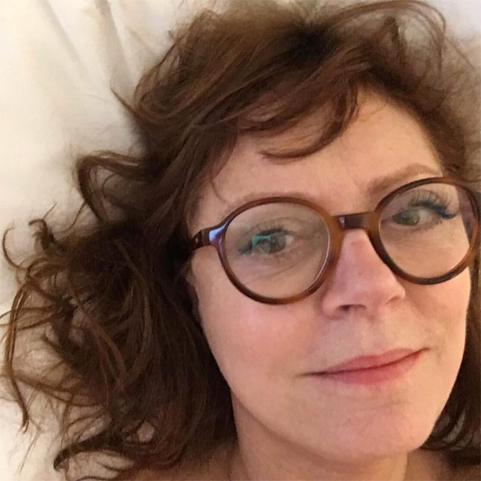 "Another Hollywood star to voice her support for Time's Up, Susan Sarandon shared a beautiful, fresh-faced selfie with a heartfelt message, ""Today I will wear black in solidarity and gratitude with all women in all industries, acknowledging our mutual power and vulnerability. #TimesUp on silence, on imbalance of power, on inaction.""