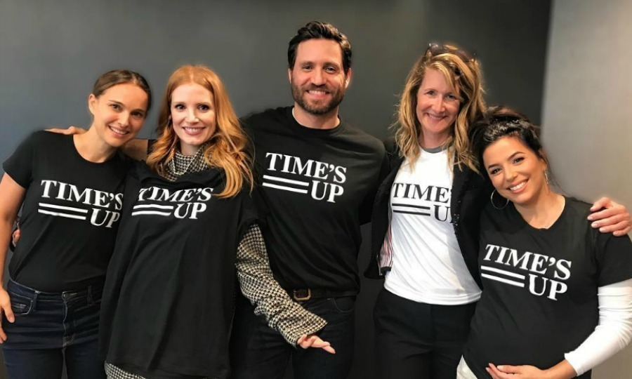 "Powerful party of five! Edgar Ramirez teamed up with some of Hollywood's most recognizable actresses for the TIME'S UP anti-harassment movement. The Venezuelan actor took to Instagram to share a photo of himself with Eva Longoria, Laura Dern, Jessica Chastain and Natalie Portman all repping the fund's T-shirts. Along with the picture, which was reposted by Jessica, Edgar wrote: ""#TIMESUP on abuse, harassment, and assault. #TIMESUP on oppression and marginalization. #TIMESUP on misrepresentation and underrepresentation.""