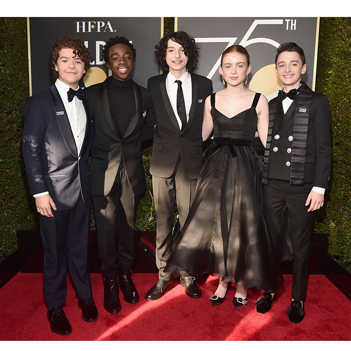 Any moment is a best moment when this cast is involved! The red carpet got a little strange, in the best way, when the kids of <i>Stranger Things</i> showed off their megawatt smiles on the Golden Globes red carpet.