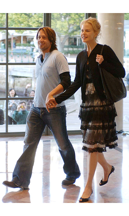 Newlyweds Nicole Kidman and Keith Urban on the day following their wedding ceremony at the Park Hyatt hotel on June 26, 2007 in Sydney, Australia. 
