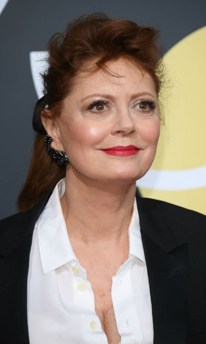 <h4>Susan Sarandon's fuchsia lipstick</h4>