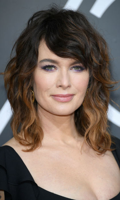 <h4>Lena Headey's purple eyeshadow</h4>