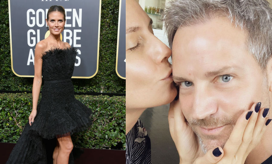 <h4>Heidi Klum's midnight manicure</h4>