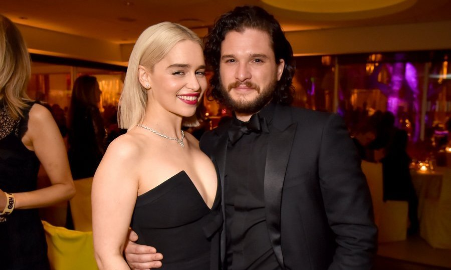 <p><em>Game of Thrones</em> actors Emilia Clarke and Kit Harington celebrated alongside their fellow HBO stars at the Beverly Hills bash.<br/><br/>Photo: &copy; Jeff Kravitz/FilmMagic for HBO</p>