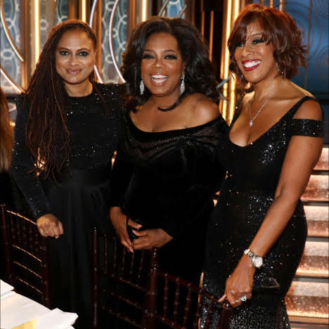 <p>Cecil B. DeMille Award honoree Oprah Winfrey was on the scene with BFF Gayle King and director Ava DuVernay.<br /><br />Photo: &copy; Matt Sayles/Invision for Lindt Chocolate</p>