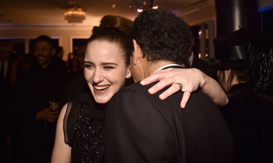 <p>A triumphant Rachel Brosnahan, who took home a globe for her leading role on Amazon's <em>The Marvelous Mrs. Maisel</em>, got a congratulatory hug from Tony Shalhoub.<br /><br />Photo: &copy; Alberto E. Rodriguez/Getty Images</p>