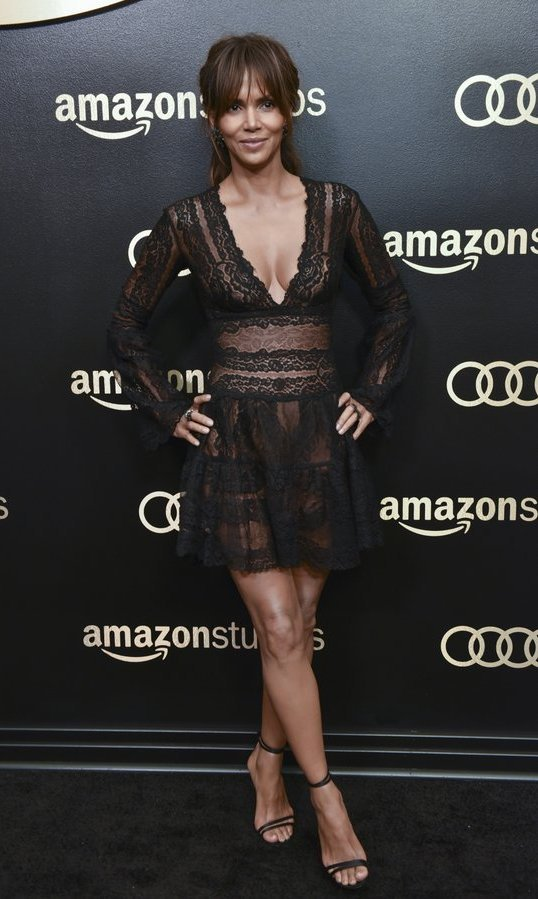<h4>Amazon Studios Golden Globes Celebration</h4><p>A leggy Halle Berry was among the guests who walked the black carpet at the Amazon Studios Golden Globes Celebration at The Beverly Hilton Hotel.<br /><br />Photo: &copy; Rodin Eckenroth/WireImage</strong></p>