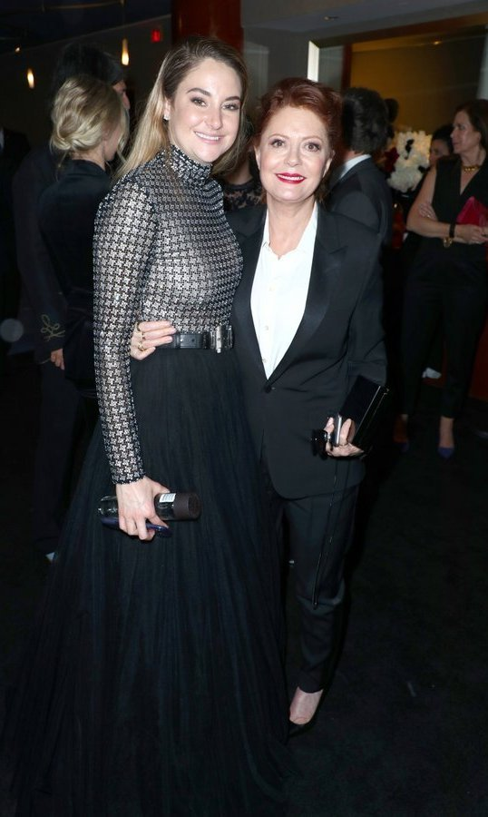<p><em>Big Little Lies</em> star Shailene Woodley, left, and Susan Sarandon mingled with fellow guests at the 2018 InStyle and Warner Bros 75th Annual Golden Globe Awards Post-Party at The Beverly Hilton Hotel.<br /><br />Photo: &copy; Joe Scarnici/Getty Images for InStyle</p>
