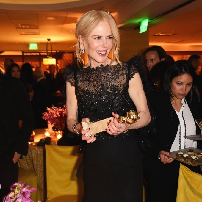 <p>Another one for the mantelpiece! Her Golden Globe in hand, <em>Big Little Lies</em> star Nicole Kidman couldn't stop smiling at HBO's Official 2018 Golden Globe Awards After Party.<br/><br/>Photo: &copy; FilmMagic/FilmMagic for HBO</p>