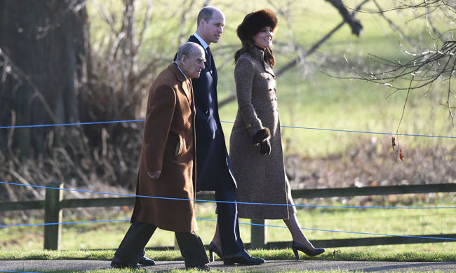 New year, same incredible fashion sense! Duchess Kate dressed in natural hues for a Sunday (Jan. 7) church service with he royal family. With Princes William and Philip in tow, the Duchess of Cambridge donned a brown fur hat and gorgeous recycled Moloh coat. Paired with suede brown heels, Kate was a vision.