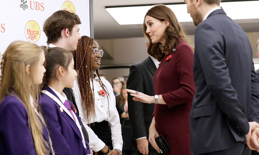 "The Duchess of Cambridge attended the Place2Be School Leaders Forum in November 2017, where she delighted young fans by telling them she's ""getting used to"" to taking her son Prince George to school.