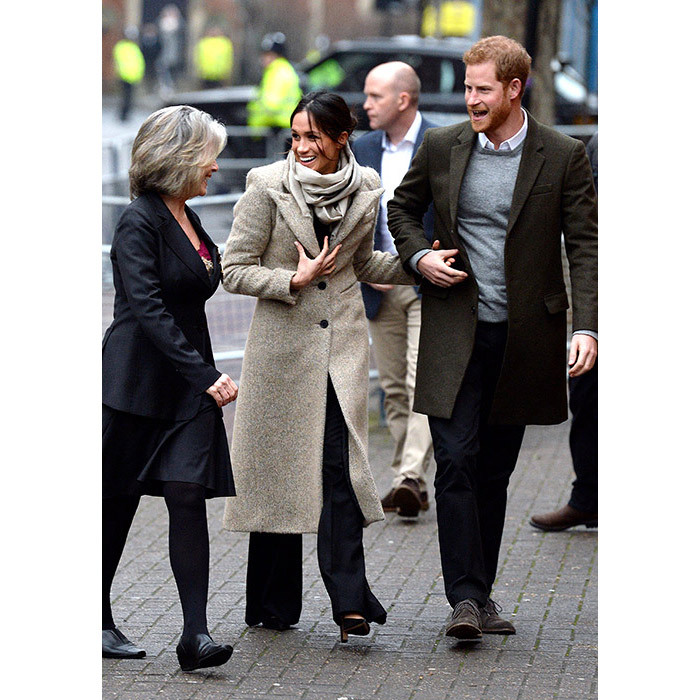 <p>Prince Harry and Meghan Markle arrive in Brixton.</p>