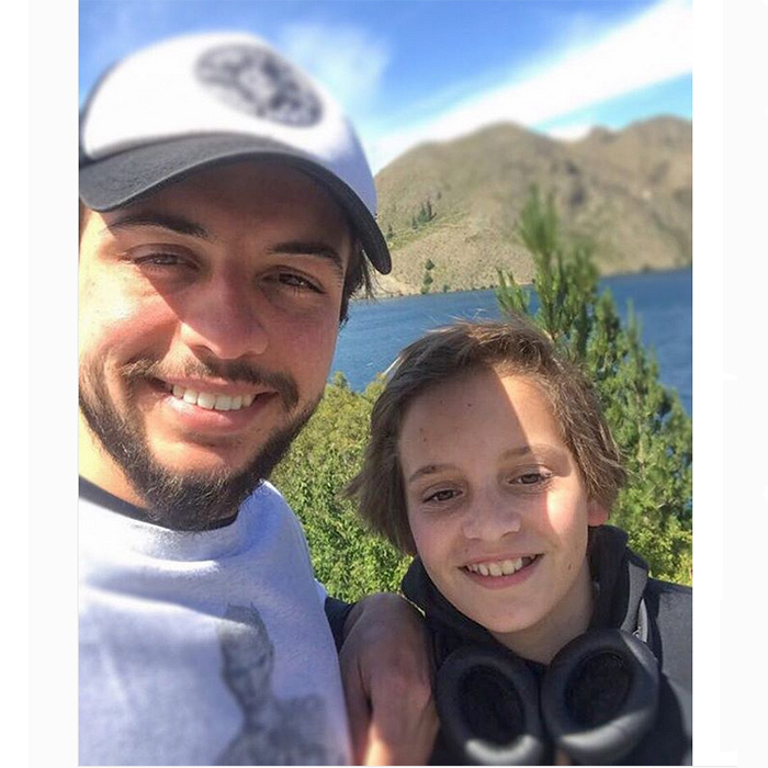 With the great outdoors as their gorgeous backdrop, Crown Prince Hussein of Jordan, 23, snapped a fun selfie co-starring his 12-year-old little brother Prince Hashem. He shared it on his Instagram page.