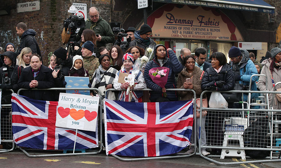 <p>The royal couple was greeted with cheers and applause from fans who had waited outside Pop Brixton in the hope of catching a glimpse of Prince Harry and Meghan.</p>