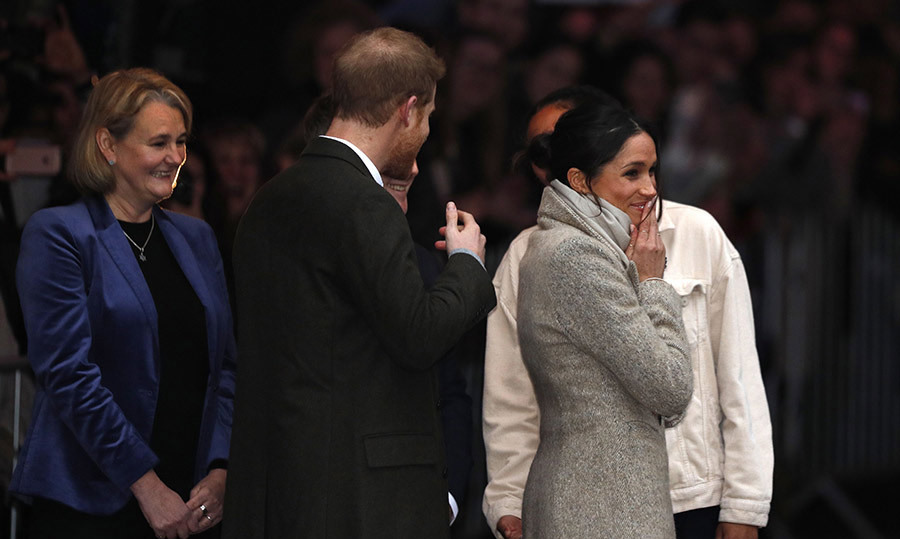 <p>With just 122 days to their wedding, this is the first engagement of the year for the happy couple - their second in total. The pair waved and smiled at the crowd as they entered the building.</p>