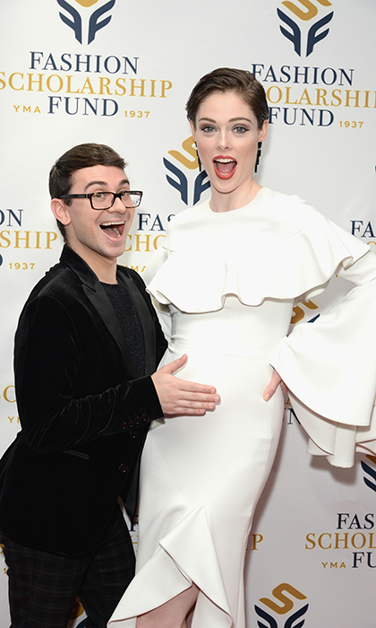 Designer Christian Siriano and Canadian model Coco Rocha stopped for a cute photo at the YMA Fashion Scholarship Fund dinner. Cristian was an honouree at the event.