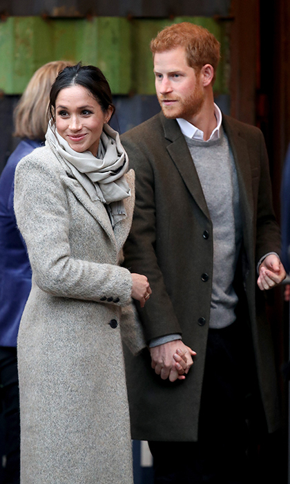Meghan Markle and Prince Harry made a loved-up appearance while visiting Reprezent 107.3FM, a station dedicated to helping youth socialize and connect through radio amid rising knife violence nearby. The soon-to-be-newlyweds were both clad in coats by Canadian brands (hers SMYTHE and his Club Monaco).