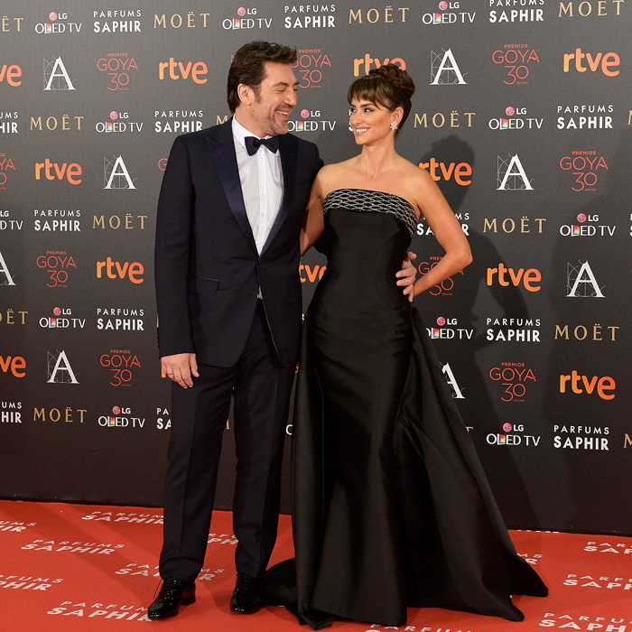<p>Even her husband Javier Bardem couldn't keep his eyes off of his wife in this elegant ball gown at the 2016 Goya Cinema Awards in Madrid. Penelope channeled old Hollywood glam with minimal jewelry and her tresses pulled back into a pretty updo.</p>