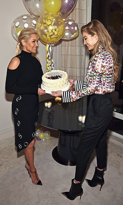 Yolanda Hadid and her supermodel daughter Gigi celebrated her birthday and the premiere of her new show, 'Making a Model with Yolanda Hadid'.