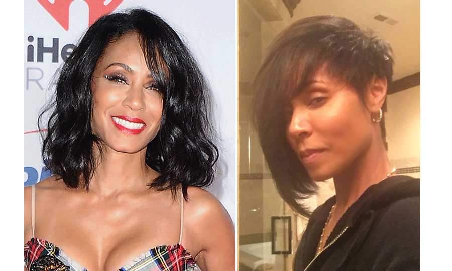 Jada Pinkett Smith rocked an asymmetrical look - a super dramatic change to her lightly curled, shoulder-length locks!