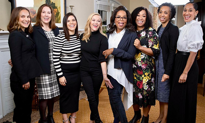 A week after her unforgettable Golden Globes speech, Oprah Winfrey and a Hollywood panel discussed the TIME'S UP movement on CBS Sunday Morning. The media heavyweight was joined by actresses Natalie Portman, America Ferrera, Reese Witherspoon and Tracee Ellis Ross as well as showrunner Shonda Rhimes, producer Kathleen Kennedy and diversity lawyer Nina Shaw. 