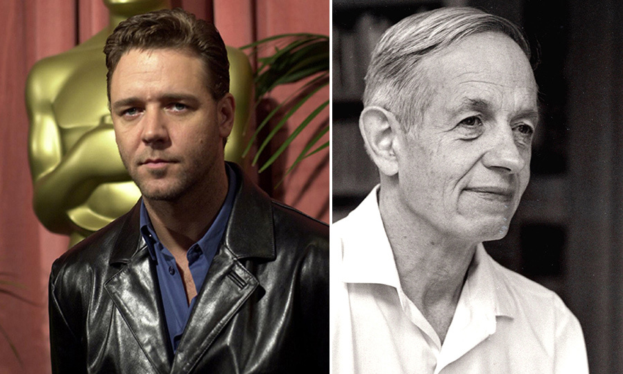 <h4>Russell Crowe and John Forbes Nash Jr</h4>