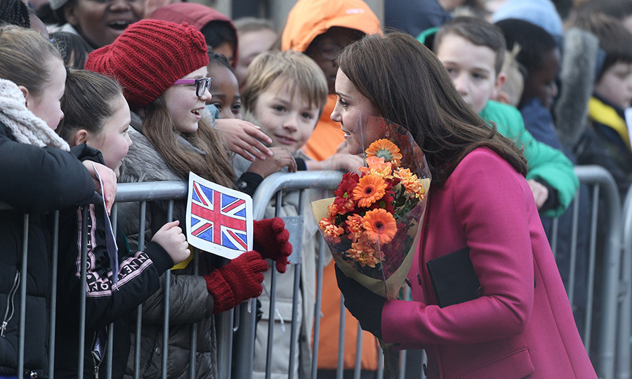 <p>The Duchess of Cambridge arrives in Coventry.</p>