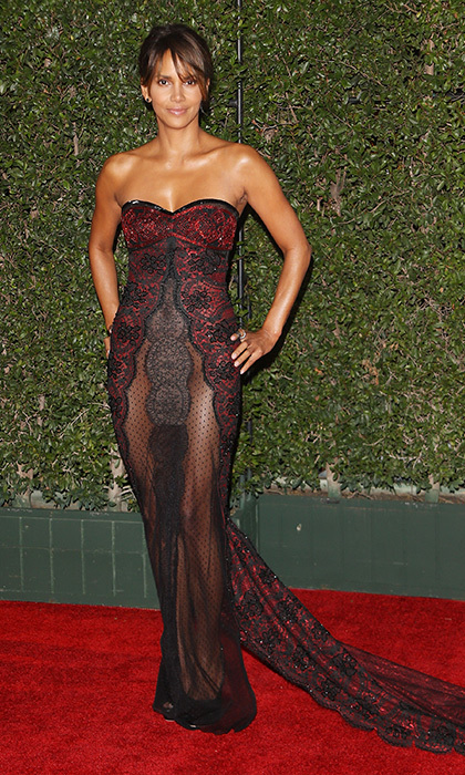 Halle Berry in Reem Acra