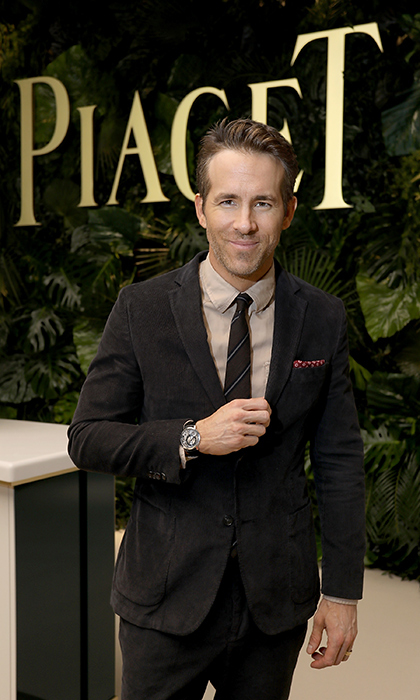 Handsome as ever, Ryan Reynolds stopped by the Piaget booth on Jan. 15 while in Switzerland!