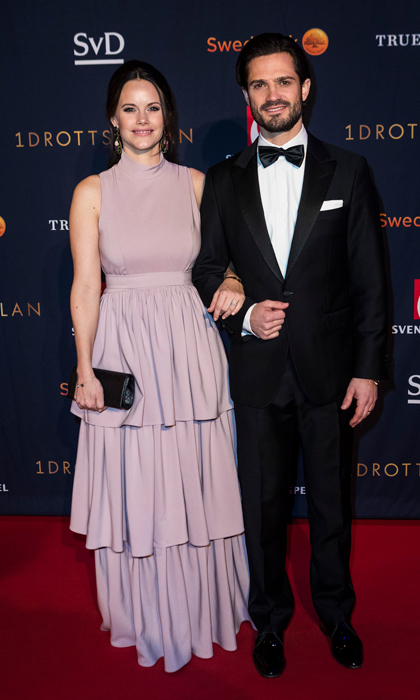 Prince Carl Philip and Princess Sofia of Sweden took a night off from parenting their sons — Princes Alexander and Gabriel — to attend the annual Swedish Sports Awards Gala held at the Ericsson Globe Arena on Jan. 15 in Stockholm. The pair's brother-in-law Prince Daniel was forced to cancel his appearance at the event because of a severe cold.