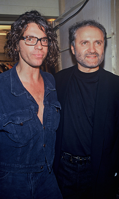 Late INXS frontman Michael Hutchence, who passed away in 1997, was a personal friend of Gianni. Here, the two posed backstage at fall 1992 Versace Haute Couture show. 